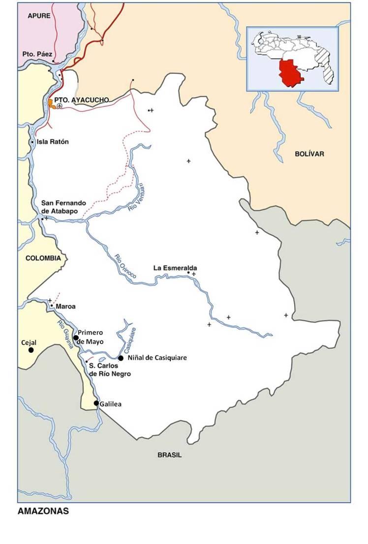 mapa salida maroa-rio negro-guainia